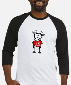 I Love Moo Cow Baseball Jersey