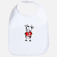 I Love Moo Cow Bib