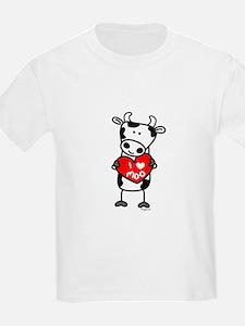I Love Moo Cow Kids T-Shirt