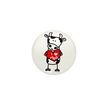 I Love Moo Cow Mini Button (100 pack)