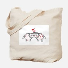 Cows in Love Tote Bag