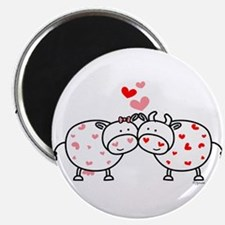 """Cows in Love 2.25"""" Magnet (10 pack)"""