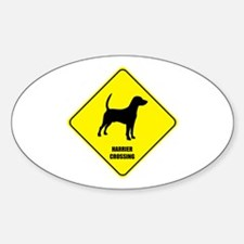 Harrier Crossing Oval Decal