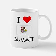 I Love SUMMIT Illinois Mugs