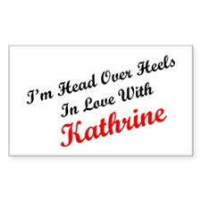 In Love with Kathrine Rectangle Decal