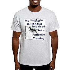 Manchester Terrier Agility Ash Grey T-Shirt