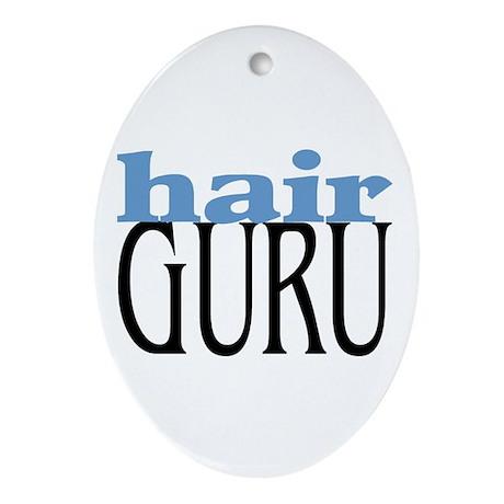 Hair Guru Oval Ornament