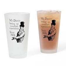 Mr. Darcy close up Drinking Glass