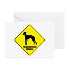 Greyhound Crossing Greeting Cards (Pk of 10)