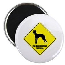 Greyhound Crossing Magnet