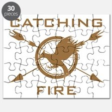 Catching Fire Arrows Brown Logo Puzzle