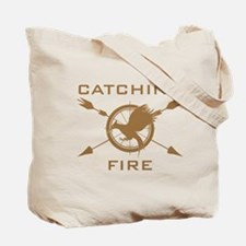 Catching Fire Arrows Brown Logo Tote Bag
