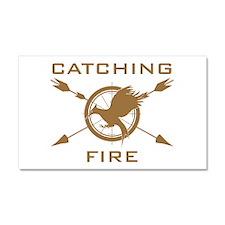 Catching Fire Arrows Brown Logo Car Magnet 20 x 12