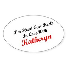 In Love with Katheryn Oval Decal