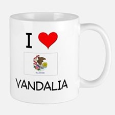 I Love VANDALIA Illinois Mugs