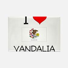 I Love VANDALIA Illinois Magnets