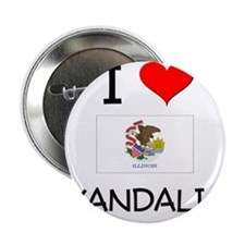 "I Love VANDALIA Illinois 2.25"" Button"