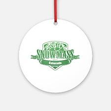 Snowmass Colorado Ski Resort 3 Ornament (Round)