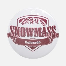 Snowmass Colorado Ski Resort 2 Ornament (Round)