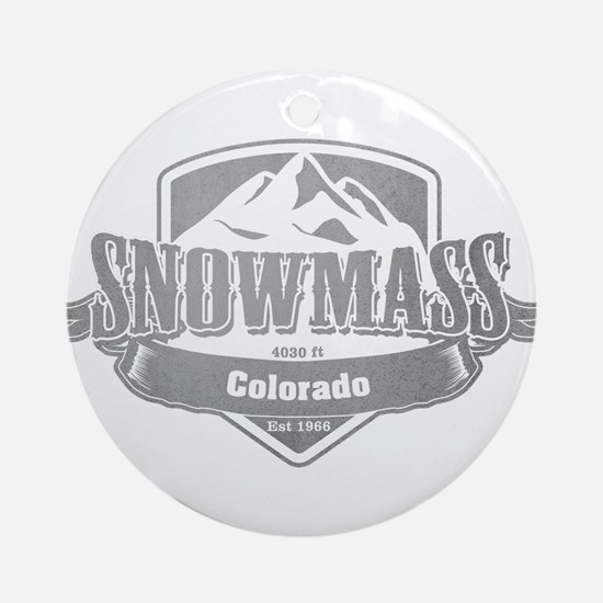 Snowmass Colorado Ski Resort 5 Ornament (Round)