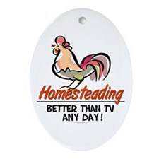 Homestead Rooster Oval Ornament