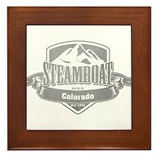Steamboat Colorado Ski Resort 5 Framed Tile