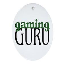 Gaming Guru Oval Ornament