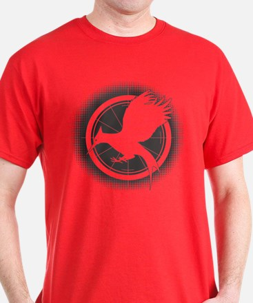 Catching Fire Mockingjay Grey Halftone T-Shirt
