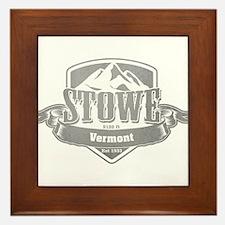 Stowe Vermont Ski Resort 5 Framed Tile