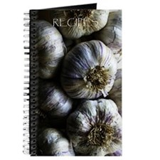 Garlic braid,blank journal for writing recipes