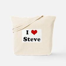 I Love Steve Tote Bag