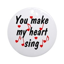 Heart Sing 2 Ornament (Round)
