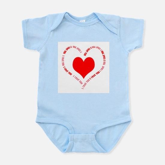 I Love You Heart Infant Bodysuit