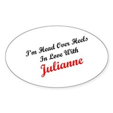 In Love with Julianne Oval Decal