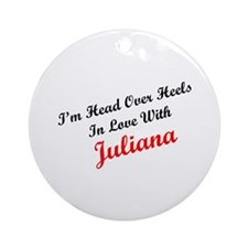 In Love with Juliana Ornament (Round)