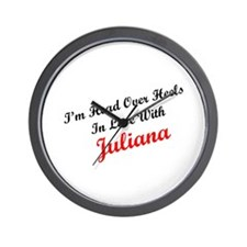 In Love with Juliana Wall Clock