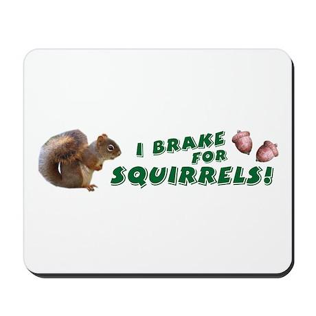 I Brake for Squirrels Mousepad