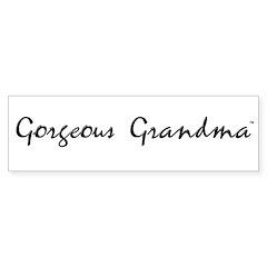 Gorgeous Grandma Bumper Bumper Sticker