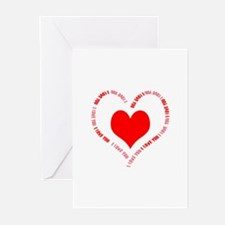 I Love You Heart Greeting Cards (Pk of 10)