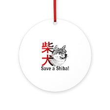 Midwest Shiba Inu Rescue Ornament (Round)