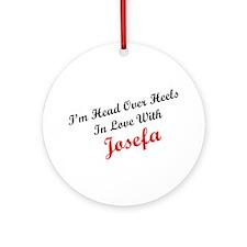 In Love with Josefa Ornament (Round)