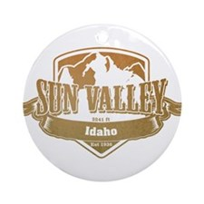 Sun Valley Idaho Ski Resort 4 Ornament (Round)