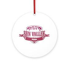 Sun Valley Idaho Ski Resort 2 Ornament (Round)