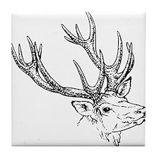Stag Sketch Tile Coaster