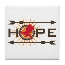 Catching Fire Hope Tile Coaster
