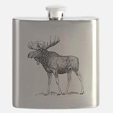 Moose Sketch Flask