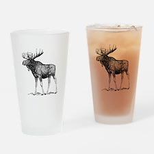 Moose Sketch Drinking Glass