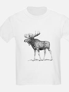 Moose Sketch T-Shirt