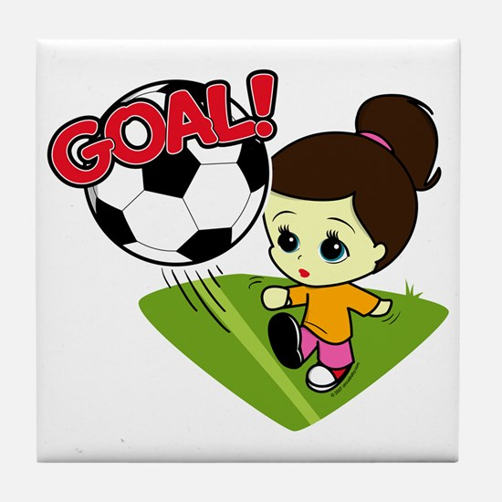 Soccer Girl Tile Coaster