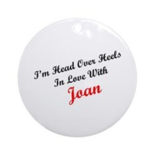 In Love with Joan Ornament (Round)